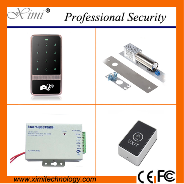 Matal single access control without software Weigand reader surface waterproof touch keypad door access control