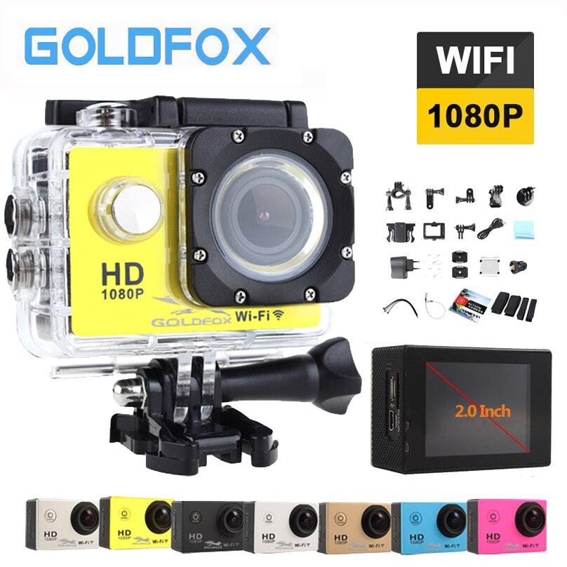 Goldfox SJ 4000 Спорт действий камера 1080 P Wi Fi Cam Шлем Мотоцикл Велосипед 12MP DV 30 м Go Водонепроницаемая профессиональная видеокамера