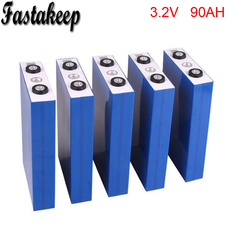 12pcs/lot High energy LiFePO4 battery 3.2V 90Ah rechargeable lithium ion battery for solar/wind/UPS/home generator/EV/RV