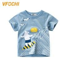 цены на VFOCHI New Arrival Boys T Shirt Cartoon Polar Bear Print Tee Kids T Shirt 2-10Y Teenager Boy Tops Cute Boy Clothes Boy T Shirts  в интернет-магазинах