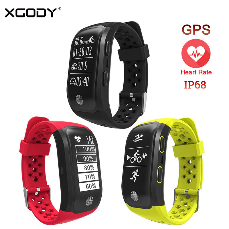 XGODY S908 Smart Watch Waterproof IP68 Heart Rate Monitor Sedentary Reminder Smart Sport Band GPS Smartband Connect IOS Android