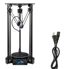 Plus-M Touch Screen 3D Printer with 1KG White PLA Auto Change Material Intelligent Leveling Triangle Delta 3D Printer