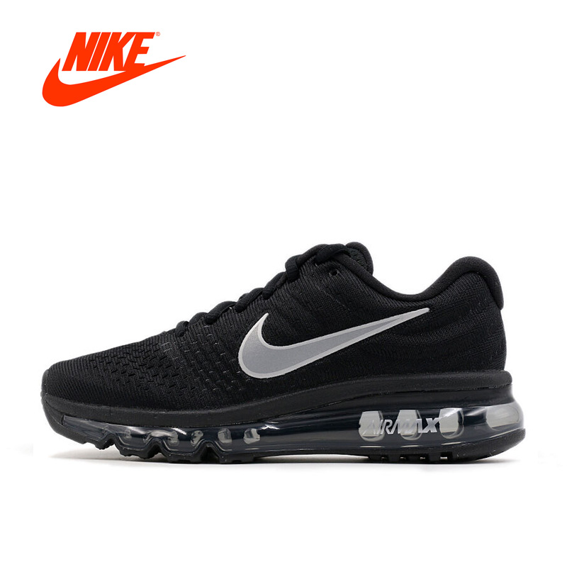 promo code 58f65 3bf92 Nueva llegada oficial Nike Air Max 2017 de los hombres transpirables  zapatos de deportes zapatillas de