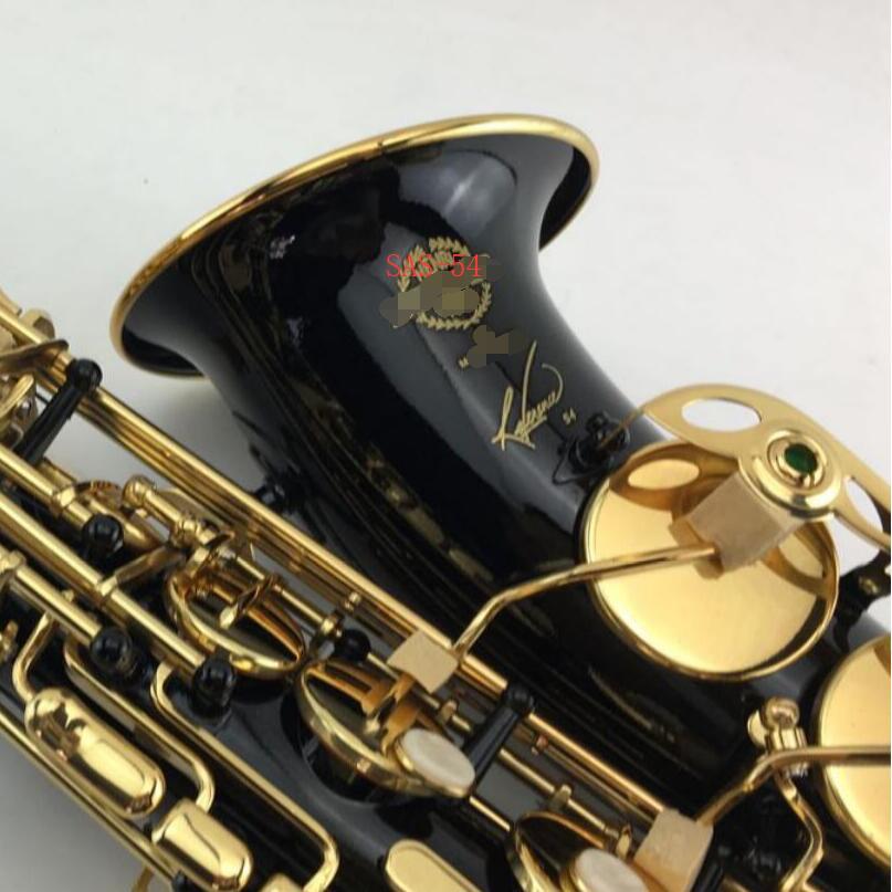 54 profissional Saxofone alto Bronze Instrumento Musical Bocal de Saxofone Eb Sintonia Ouro Níquel Preto Com Caso Frete Grátis