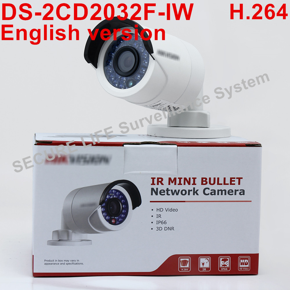 In stock English version DS-2CD2032F-IW mini wifi 1080P POE with SD Card Slot IP Network CCTV Camera wireless cd диск fleetwood mac rumours 2 cd
