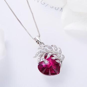 Embellished crystal Heart Necklace  1