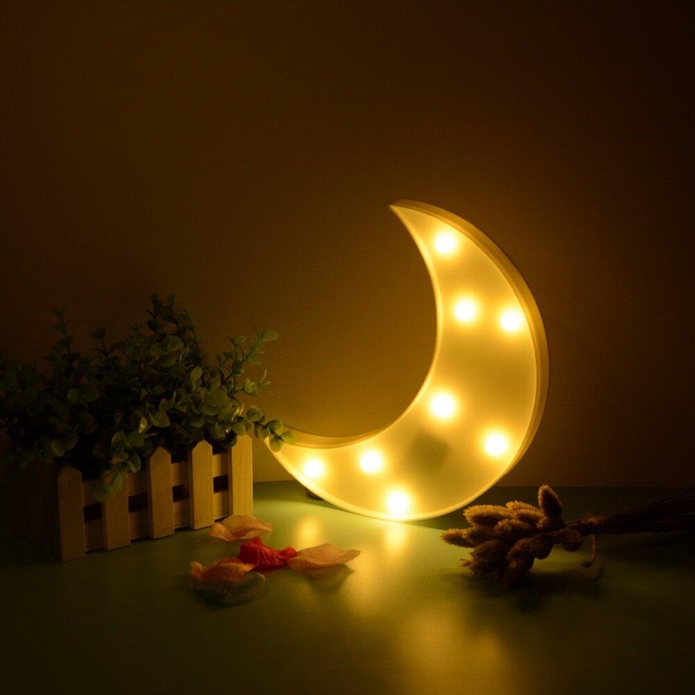C Книги по искусству Ун Moon узор светодиодный свет ночи фестиваль дети Спальня Книги по искусству Декор повезло День Святого Валентина P Книг... ...