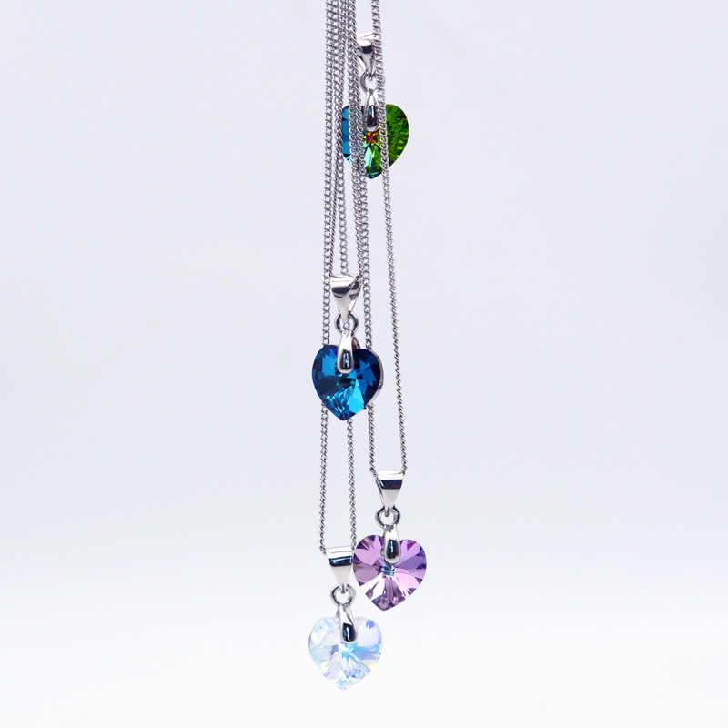 BAFFIN Mini XILION Tim Pendant Necklace Crystals Từ SWAROVSKI Elements Chuỗi Màu Bạc Necklaces Đối Với Phụ Nữ Đồ Trang Sức Trẻ Em