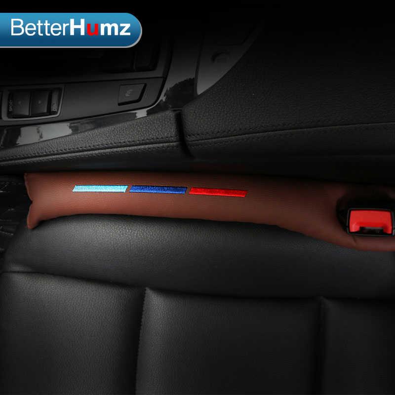 2pcs Faux Leather Car Seat Gap Pad Fillers Spacer Filler Slot Plug For bmw e46 e39 e60 e90 f30 f10 f34 x1 x3 x5 x6 accessories