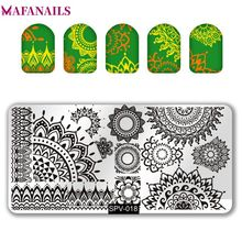 1Pc Rectangle Nail Stamping Plates DIY Stainless Steel 6.5*12.5cm Art Image Template SPV(01-30)