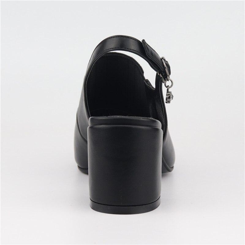 Talons Hauts Sandales Bride Cristal 35 D'été Grande Qualité Carré Talon Nouvelle Noir Cheville Taille La Chaussures Dames Toe Mode Peep À 42 Odetina Supérieure 6vpZqWC