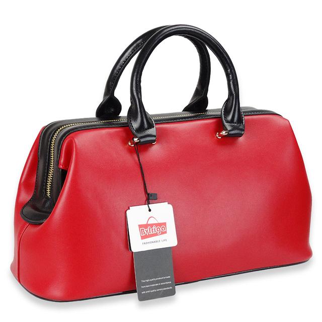 BVLRIGA 2017 Female Genuine leather Bag Summer Women Handbags Black Big Lady Tote Hand Bag Wedding Large Luxury Designer red