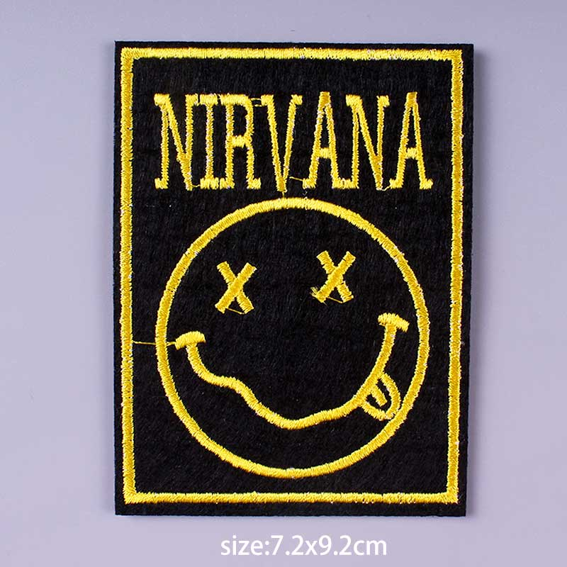 HTB1py5Ae8Cw3KVjSZFuq6AAOpXaj Nirvana Maple Leaf Patch Embroidery Patches For Clothing Cute Cat Unicorn Animal Iron On Patches On Clothes Watermelon Sticker