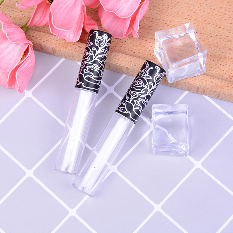 Beauty & Health Liberal Mini Sample Cosmetic Container With Lace Cap Empty Transparent Abs Lip Gloss Tubes Plastic Lip Balm Tube Lipstick