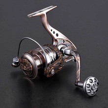 special aluminum body fishing roll bearing 14 1bb high speed reel rotating fishing wheel reel free shipping sale Full new metal seamless rotating Fishing Reels 5.2:1 high speed Fishing outdoor fishing spinning wheel reel free shipping sale
