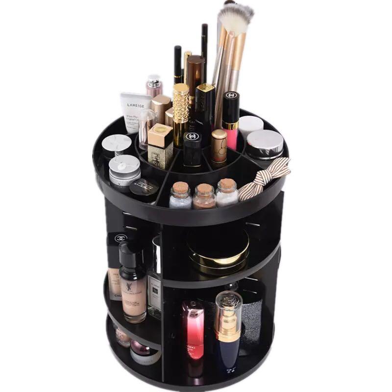 Organisateur cosmétique rotatif maquillage boîte de rangement perle rangement bijoux Armoire asiatique maquillage boîtes bijoux Armoire étui de rouge à lèvres