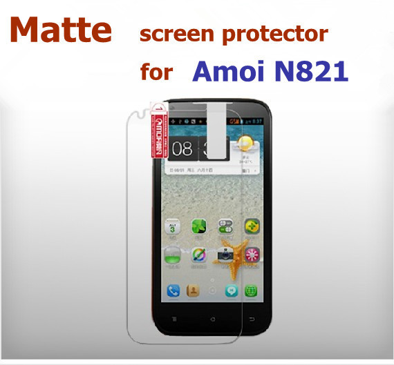 2 * Matte Screen Protector  For Amoi N821 smart cell phone , free shipping