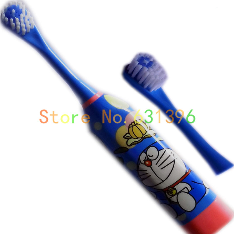 Free Shipping 2014 new Doraemon Ultrasonic wave Electric Toothbrush for  children boys girls with 1 Toothbrush Head-에서Free Shipping 2014 new  Doraemon ...