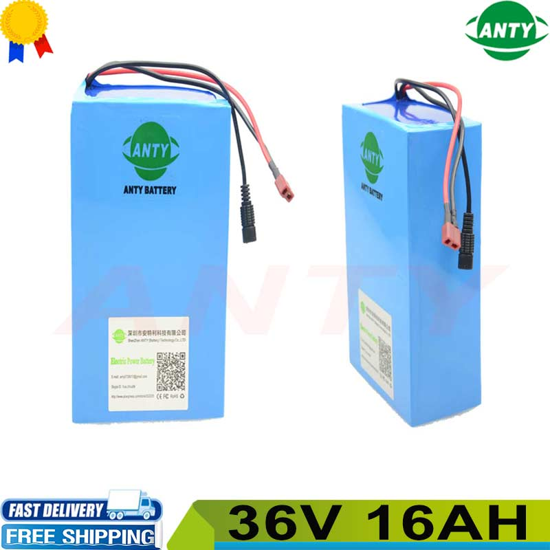 5pcs/Lot Ebike Battery 36V 16AH 550W Lithium Battery Pack 36v Electric Bicycle Battery 36v with 42v 2A Charger,BMS Free Shipping free customs taxes ebike battery 48v 40ah 2000w electric bicycle lithium battery pack with charger and 50a bms