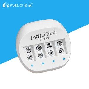 Image 1 - Зарядное устройство PALO 9 В для литий ионных аккумуляторов, 4 слота, со светодиодным индикатором