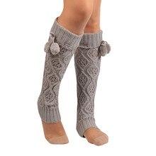 Гольфы Компрессионные носки для девочек женские зимние теплые вязаные носки гетры Гольфы Вязаные гольфы calcetines mujer A75