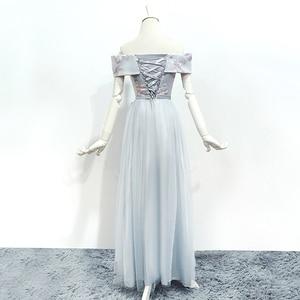 Image 3 - Bridesmaid Dresses Sleeveless Maid of Honor Dresses for Weddings Off The Shoulder Back of Bandage Dress Long  Embroidery Vestido
