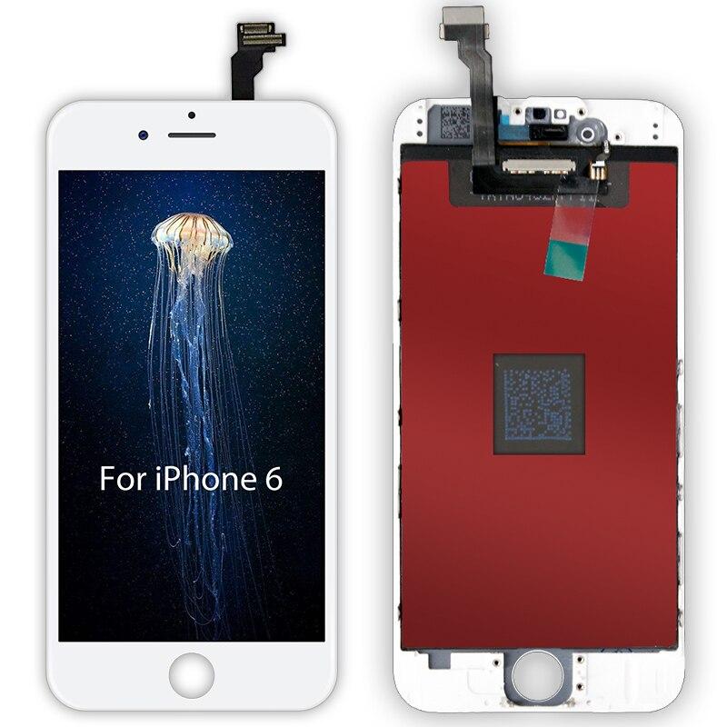 Blanc et noir AAAAA tout neuf pour iPhone 6 6G LCD écran tactile numériseur assemblée pour iPhone6 4.7 ''pas de Pixel mort + cadeau