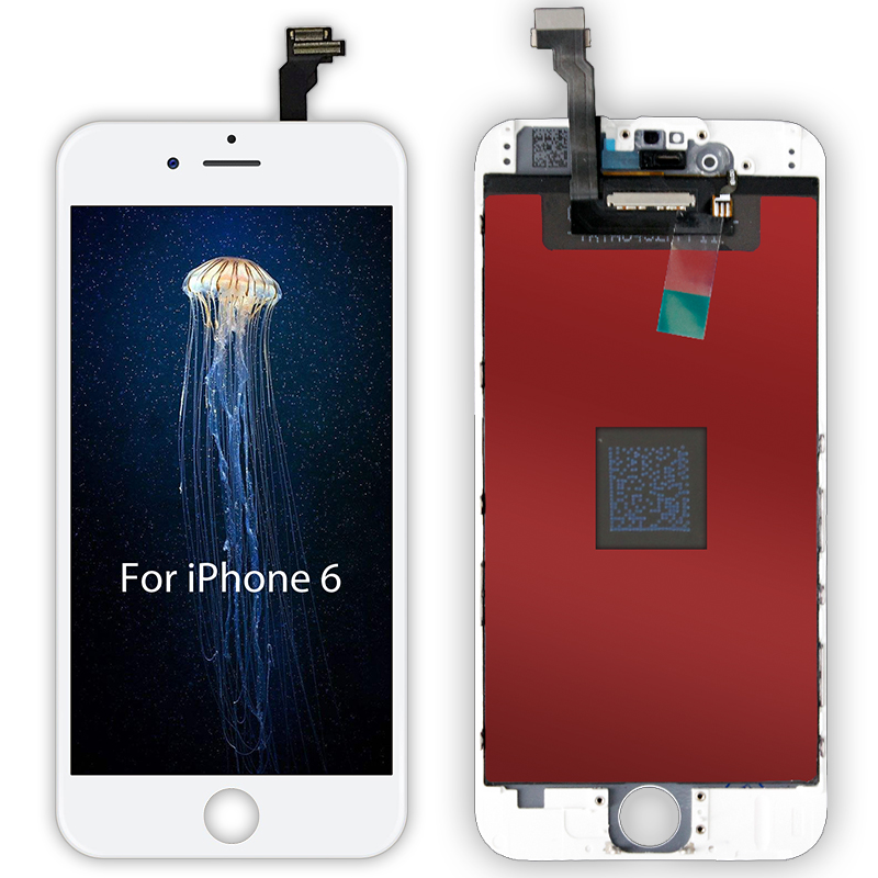 White & Black AAAAA Nova Marca Para o iphone 6 6G LCD Screen Display Toque Digitador Assembléia Para iPhone6 4.7 ''No Dead Pixel + Gift