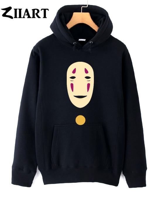 faceless No Face man mask Miyazaki Hayao Spirited Away couple clothes girls woman female autumn winter cotton fleece hoodies