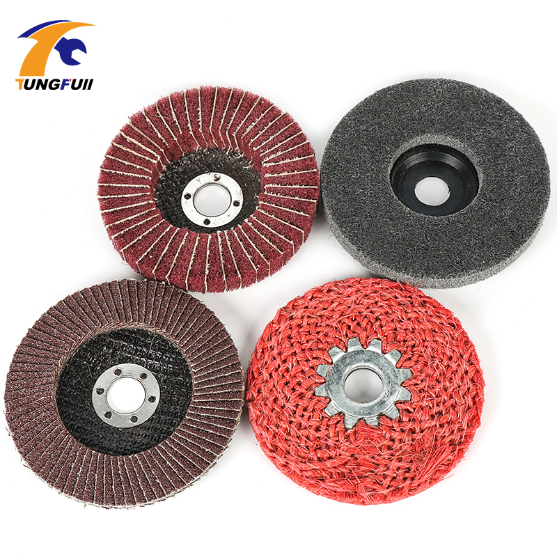 Tungfull Tool Set Polishing Wheel 100mm 4 Inch Buffing Pad Grinding Abrasive Disc Dremel Style Accessories For Rotary Tools