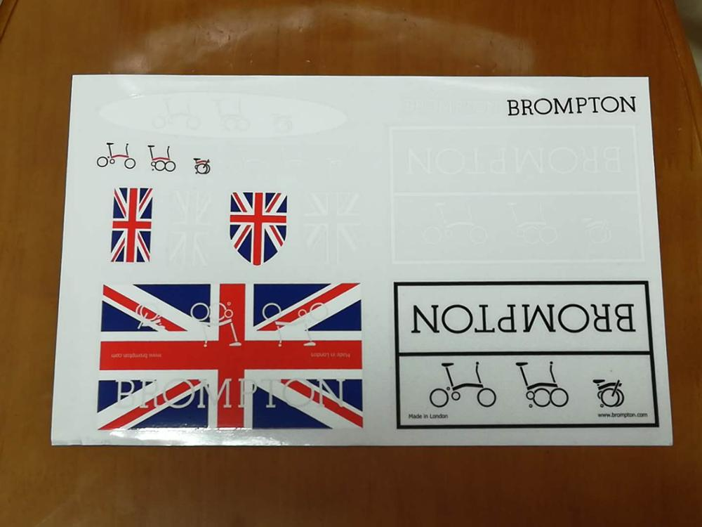 bicycle decal frame logo union jack Sticker for Brompton 1 set brompton stickers