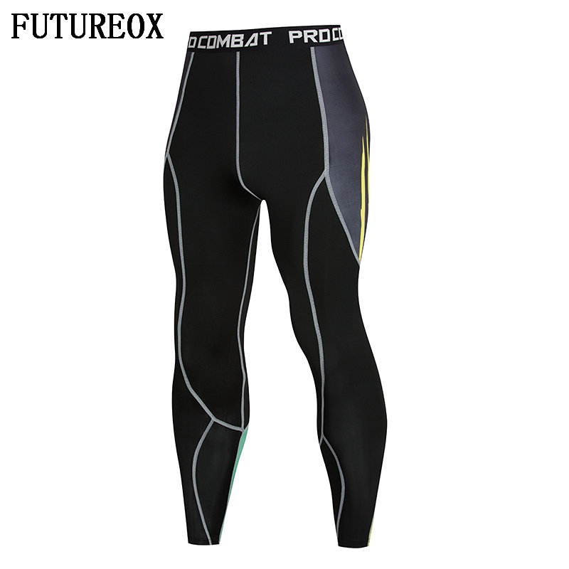 New Men's Compressed Skin Tights Leggings Bodybuilding Workout Bodybuilding Male Bottom MMA Pants Fitness Sweatpants
