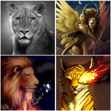 Lion Tiger Fantasy Art 5D Diamond Painting Home Decoration Full Square Girl New Arrival Mosaic Cross Stitch