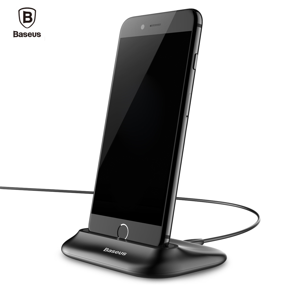 baseus desktop docking charger for iphone data sync. Black Bedroom Furniture Sets. Home Design Ideas