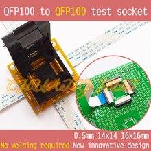 цена на  QFP100 to QFP100 test socket TQFP100 LQFP100 PQFP100 Pitch=0.5mm Size=14x14mm 16x16mm No welding