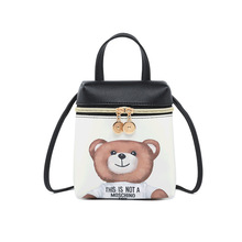 La MaxZa Cartoon Women Messenger Bags High Quality Cross Body Bag PU Leather Mini Bear Shoulder Bag Handbags Bolsas Feminina women messenger vintage bags high quality cross body bag pu leather mini female solid shoulder bag handbags bolsas feminina
