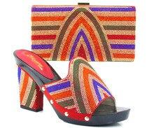 TH16-32 Unterschiedliche farbe vorhanden mode Italienische passende schuh-und taschensatz für party und hochzeit African damen heels