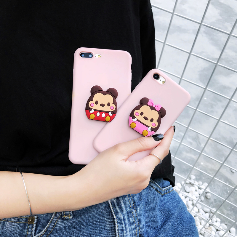 pink animal shaped phone cases