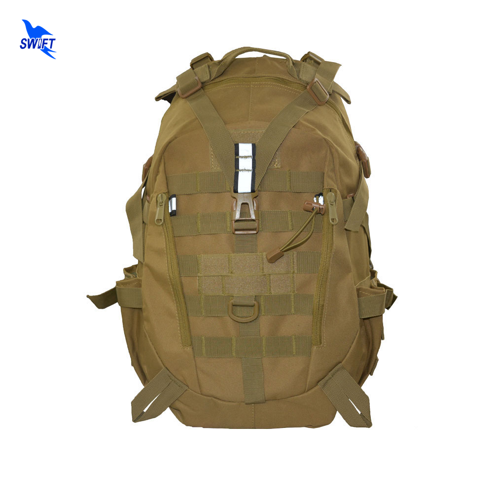Outdoor Sport Military Tactical Hunting Mountaineering Backpack Camping Hiking Trekking Rucksack Travel Bag with Reflective Tape цена