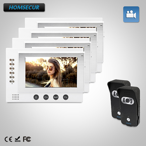 HOMSECUR 7 Wired Video Door Phone Intercom System with Dual-way Intercom 2C4M :TC021-B Camera(Black)+ TM701R-W Monitor(White)HOMSECUR 7 Wired Video Door Phone Intercom System with Dual-way Intercom 2C4M :TC021-B Camera(Black)+ TM701R-W Monitor(White)