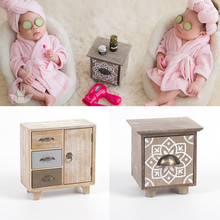 Baby Photography Props Wood Coffee Table Furniture Flokati Newborn for Photo Soots Mini Tea Set Accessories