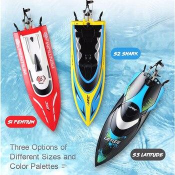 Высокая Скорость JJRC S1 S2 S3 Водонепроницаемый оборот сброса водяного охлаждения 25 км/ч жестокие дистанционного Управление Racing Скорость лодка...