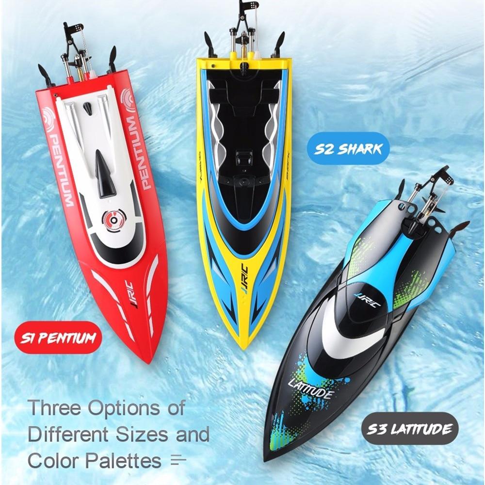 купить JJRC S1/S2/S3 High Speed Waterproof Turnover Reset Water Cooling 25km/H RC Boat Remote Control Racing Speedboat Air Ship Toys недорого