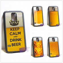 """Keep calm and drink beer"" phone cover for Samsung Galaxy S3 S4 S5 S6 S6 edge S7 S7 edge Note 3 Note 4 Note 5"