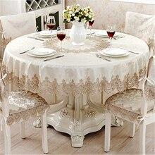 Европейская классическая круглая скатерть для декора стола, жаккардовая кружевная элегантная скатерть на стол, обеденный стол, чехол для шкафа, Набор стульев