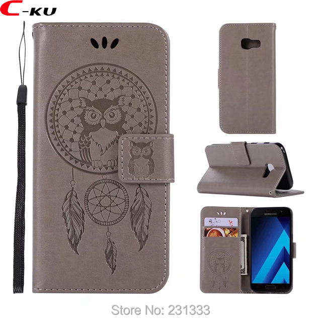 C-ku OWL Wallet PU Leather Pouch Case For Samsung Galaxy Xcover 4 A7 2018 A5 J5 J7 For N ...