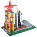 584 unids 515 espacio serie bloques de construcción de aviones lanzamiento base de bloques de construcción de ladrillo juguetes para niños de regalo compatible con lego