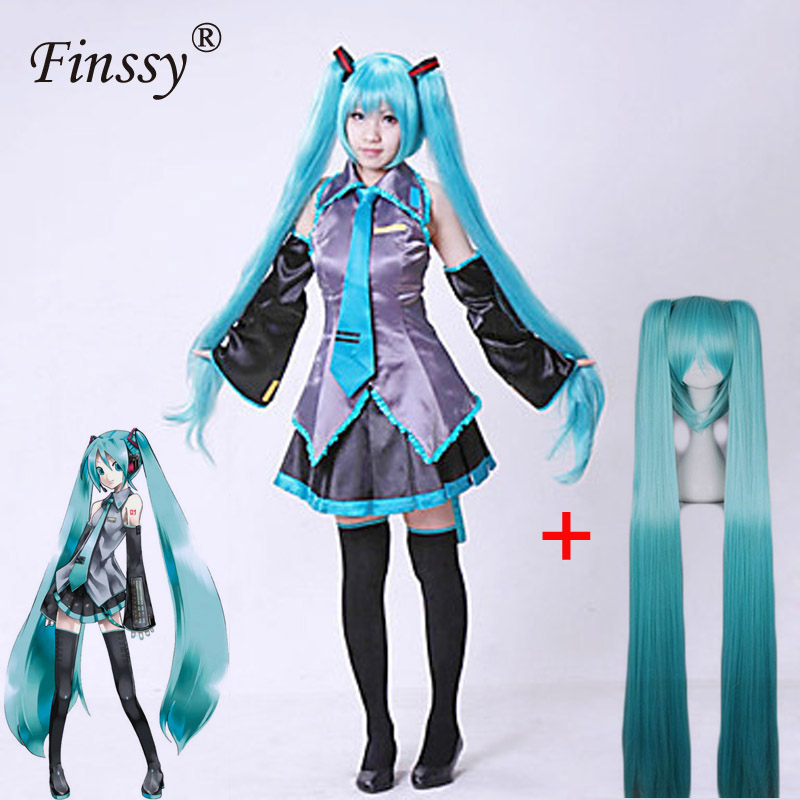 Hatsune Miku Cosplay Costume Wig Large Festival Animation Exhibition Carnival Performance Clothing Cosplay Costume For Women