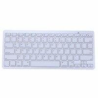 Original Aluminum Ultra Slim Mini Wireless Bluetooth Keyboard For Windows Android IOS PC Smart Phones 100