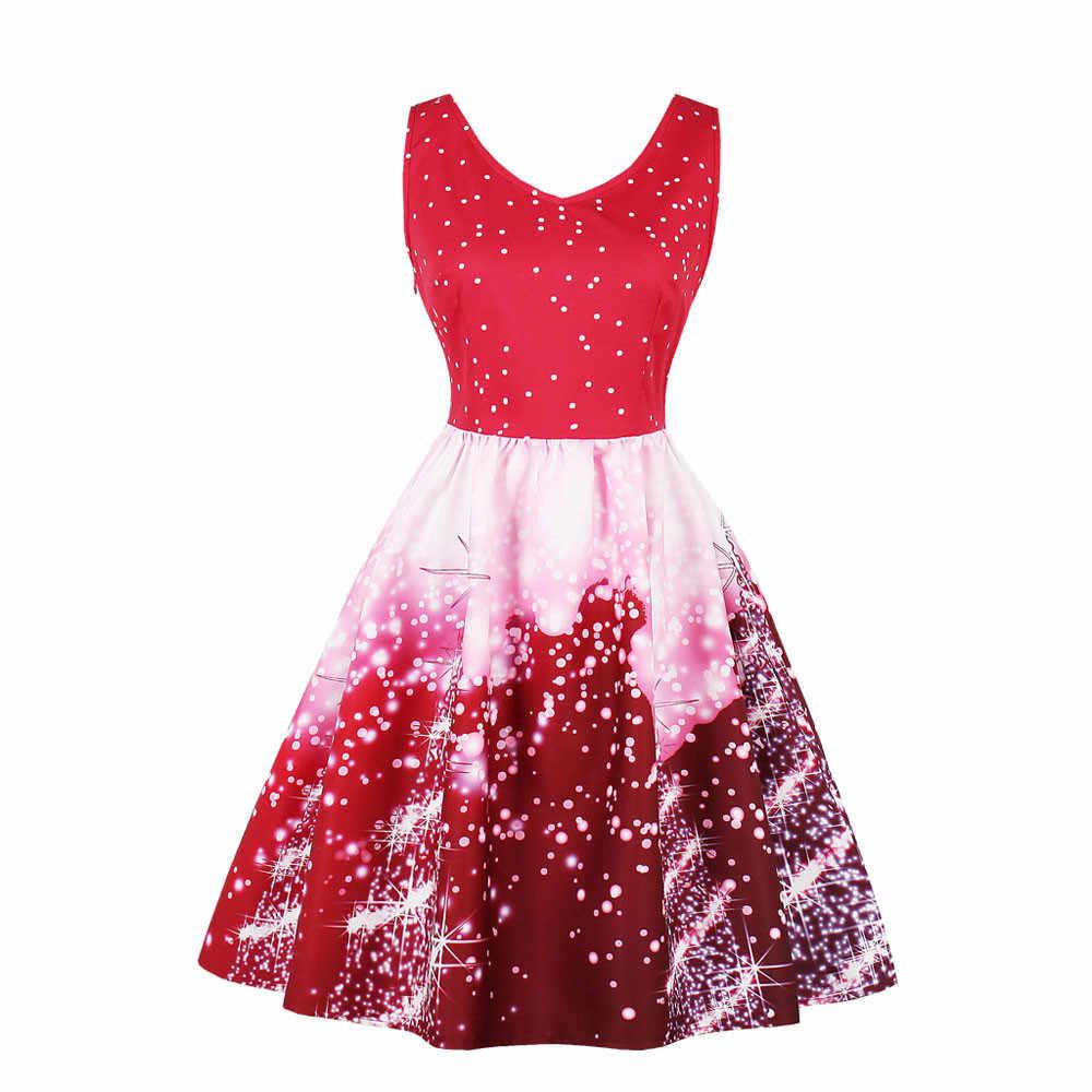 97a35bc84ca Рождественское женское платье Санта плюс Размеры 4xl праздничное платье на  Рождество Винтаж Рождество Свинг мини-